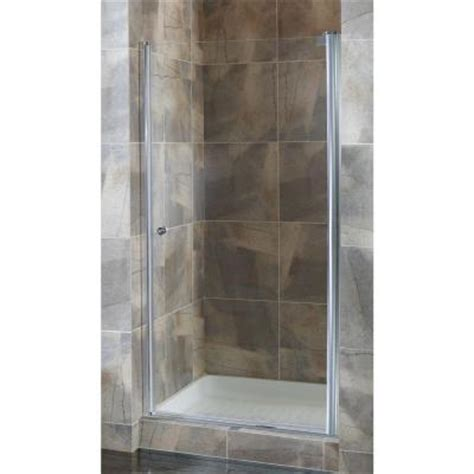 24 Glass Shower Door Foremost Cove 24 5 In To 26 5 In X 72 In Semi Framed Pivot Shower Door In Silver With 1 4 In