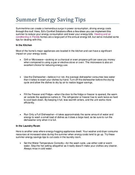summer energy saving tips summer energy saving tips