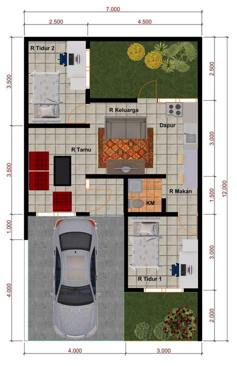 layout rumah minimalis type 45 desain rumah minimalis perumahan griya mas sidoarjo denah