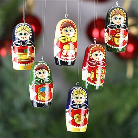 russian girls christmas ornaments set figures the