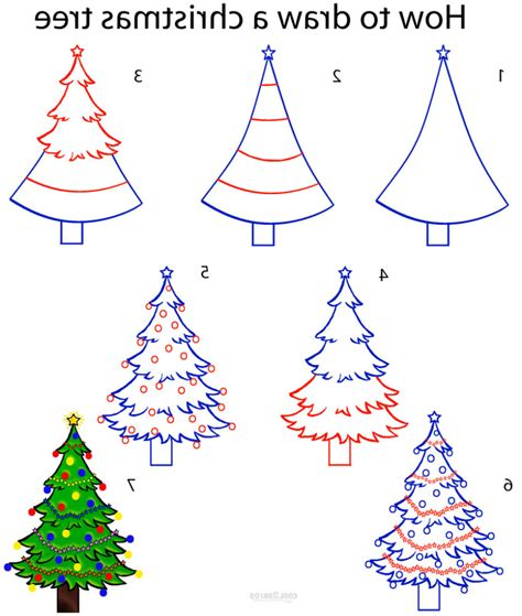 christmas pictures step by step easy tree drawing drawing gallery