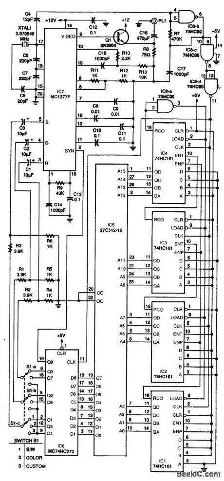 video pattern generator ic index 593 circuit diagram seekic com