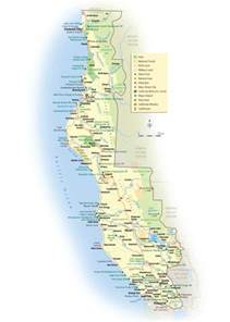 map of n california coast california coast map mapsof net