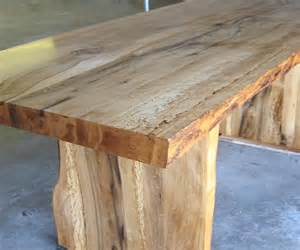 e k custom blue oak slab table reclaimed wood
