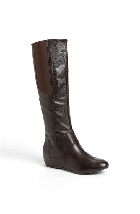 enzo boots enzo angiolini deanja wedge boot in brown