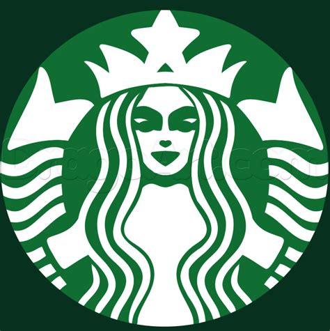 tutorial logo starbucks how to draw the starbucks logo step by step symbols pop
