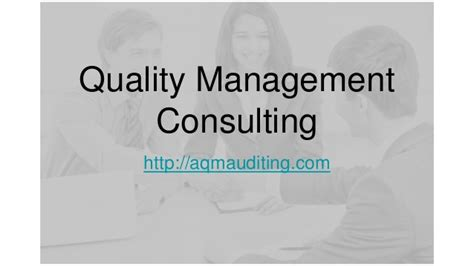 Qa Consultant by Quality Management Consulting