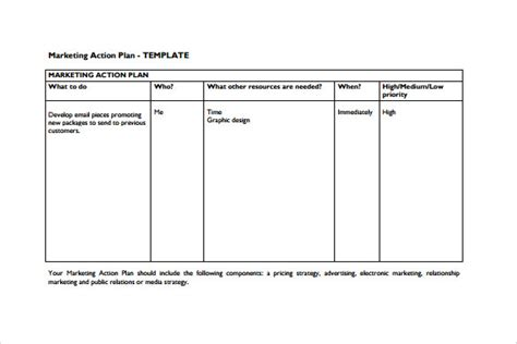 sle marketing action plan template 14 documents in pdf