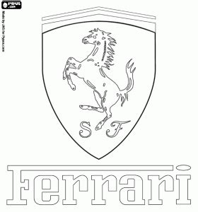 ferrari logo drawing ferrari logo italian sports car brand coloring page