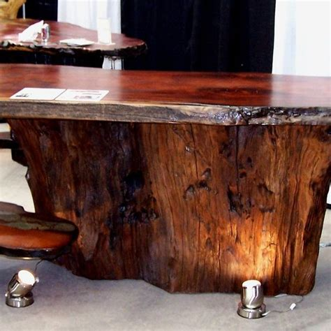 redwood bar top handmade live edge wood slab giant sequoia redwood bar with stone inlay by hamari
