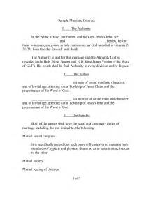 Marriage Contract Ontario Template by Marriage Contract Template Freewordtemplates Net