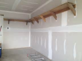 How To Make Simple Wooden Shelf Brackets by Diy Building Garage Shelves The Better Garages