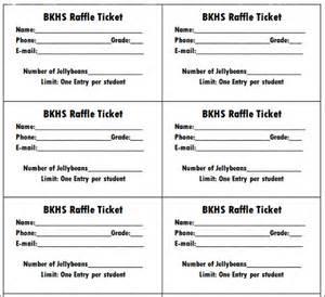 7 raffle ticket templates sample templates