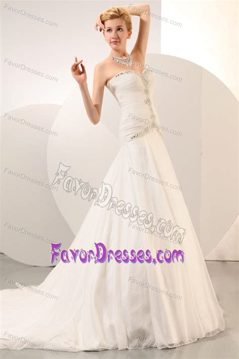 2014 formal sweetheart organza beaded wedding dress with