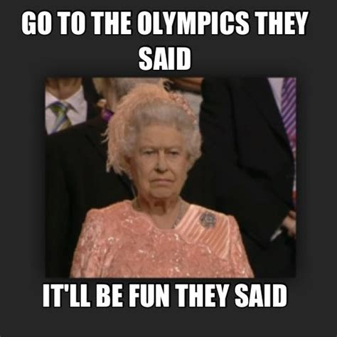 Queen Memes - queen elizabeth at olympics meme funny older ladies