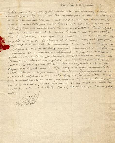 Lettre De Cachet De Louis Xvi Louis Xvi Lettre Autographe Sign 233 E Au Sujet De Grand P 232 Re Louis Xv