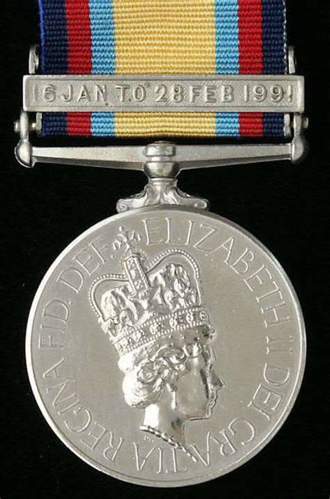 gratia tri the gulf medal 1990 91 and bar 16 jan to 28 feb 1991