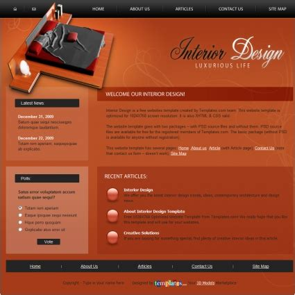 free interior design layout templates interior design template free website templates in css