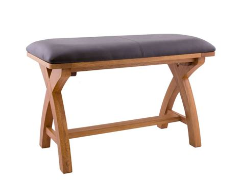 cross leg bench small oak cross leg dining bench 80cm oak top or