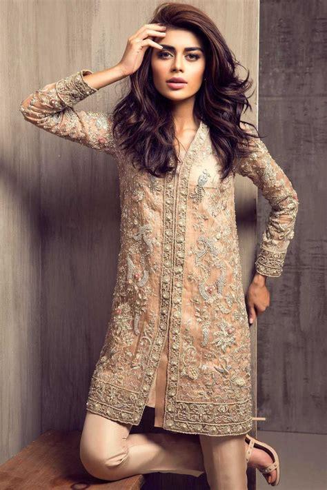 dress design karachi pakistani party wear embroidered shirts 2018 2019 latest