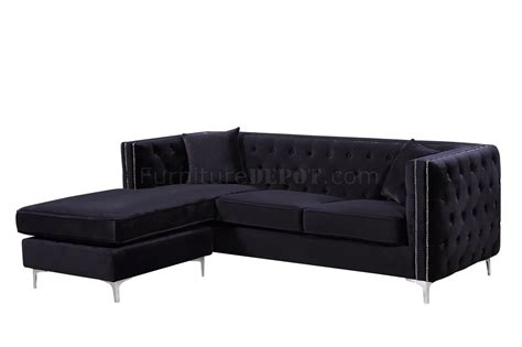 black velvet sectional jesse sectional sofa 668 in black velvet fabric by meridian