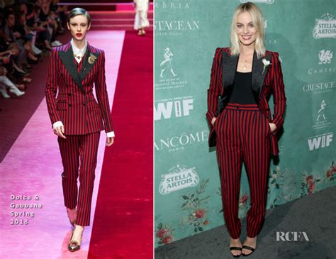 Who Wore Dolce Gabbana Better Carpet Style Awards 2 by Margot Robbie In Dolce Gabbana In Oscar