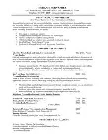 personal banker resume objectives resume sample writing