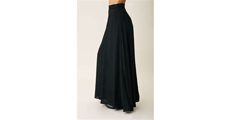 naven circle maxi skirt in black lyst