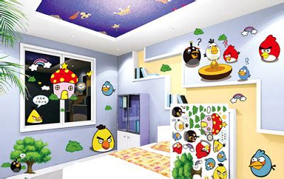 angry birds bedroom angry bird wall decoration for children bedroom