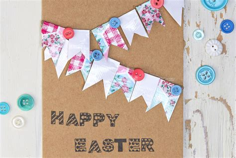 how to make easter cards how to make a bunting easter card hobbycraft