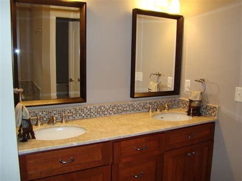 bathroom vanity tile backsplash ideas bathroom vanity tops and backsplashes