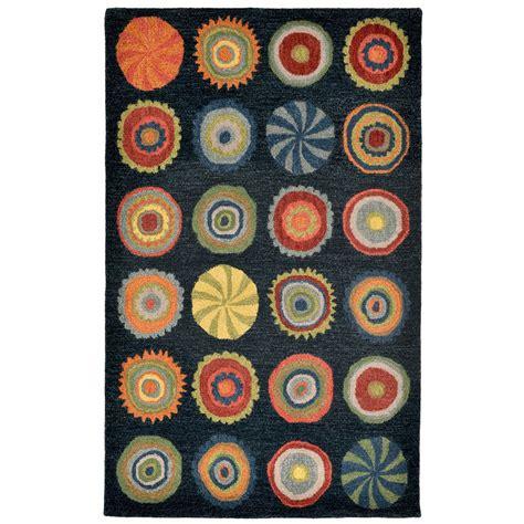 pop rugs maneck inca collection pop circles indoor rug pop circles denim 9 x12