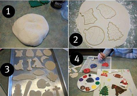 homemade clay ornaments   flour salt  water