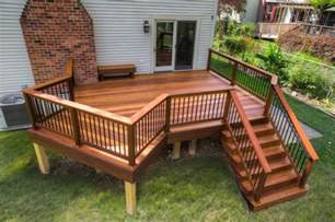 clubhouse deck with aluminum railings in enola pa stump s decks