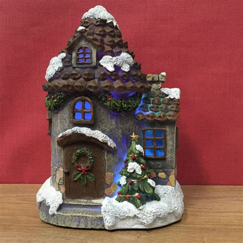 large christmas fairy door house decoration with led