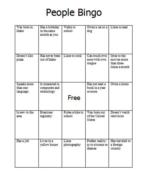 find someone who template bingo is a great icebreaker activity that can be