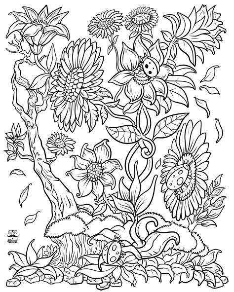 color books for adults floral digital version coloring book