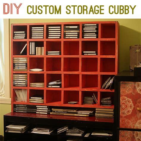 build custom craft supply storage cubbies