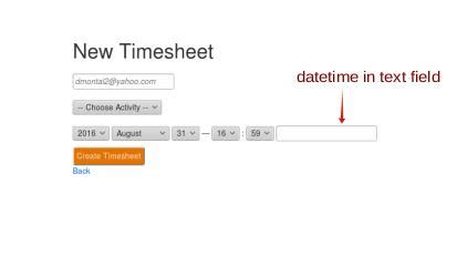 javascript format date rails jquery rails display datetime in text field stack overflow