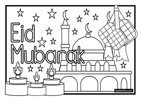Hari Raya Aidilfitri Kad Colouring Pages Page 2 | hari raya aidilfitri kad colouring pages page 2 new
