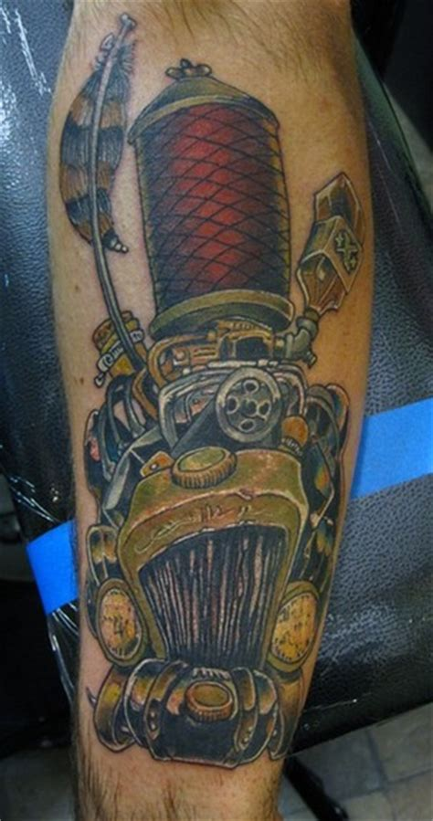 rat rod tattoo designs car tattoos and designs page 66