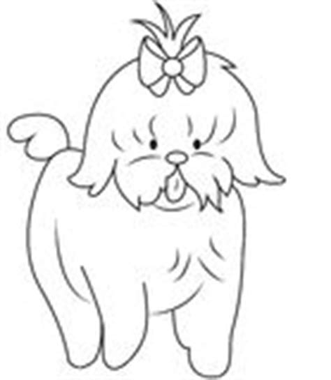 shih tzu puppies coloring pages shih tzu colouring pages