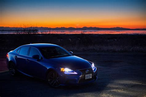 sporty lexus blue ultrasonic blue lexus is f sport at dusk for your desktop