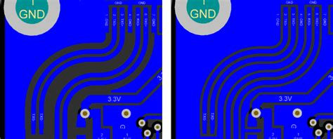 lvds layout guide pcb gnd plane close to lvds differential pair