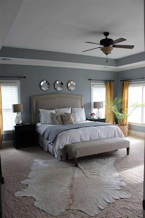Master Bedroom Decorating Ideas Gold Grey And White Master Bedroom With Pop Of Gold In