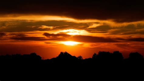 Landscape Sunset Landscape Awesome Sunset In Silhouette Wallpap 5248
