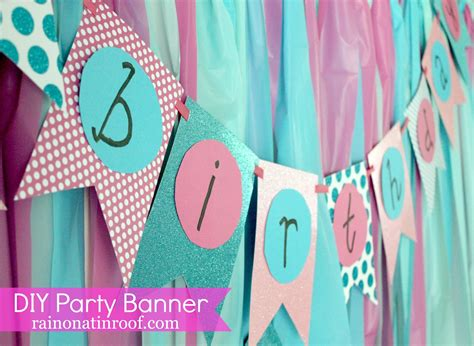 diy birthday banner template easiest diy birthday banner part 2 on a tin roof