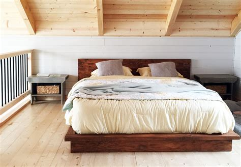 kopfende bett bauen white rustic modern 2x6 platform bed diy projects