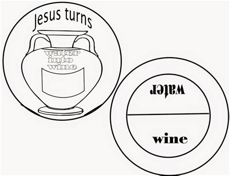 how to turn a picture into a coloring page in word sunday school fun the first miracle jesus turns water