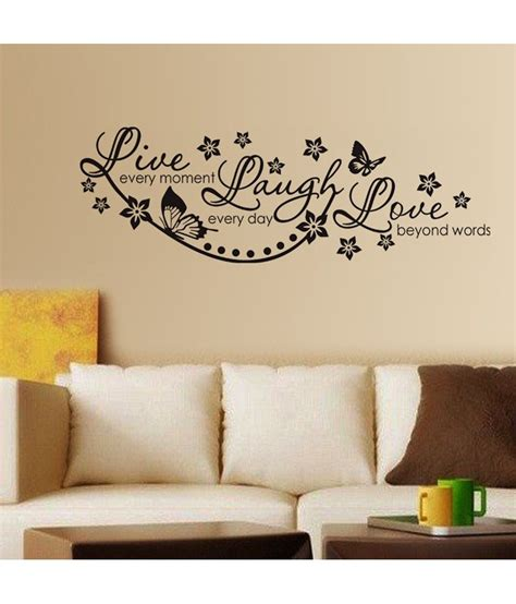 wall stickers home decor stickerskart live laugh and wall quote family wall